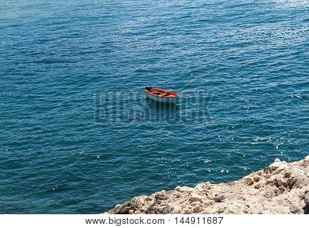 fishing boat in Caleta Negra beach in Ajuy Fuerteventura Canary Islands Spain