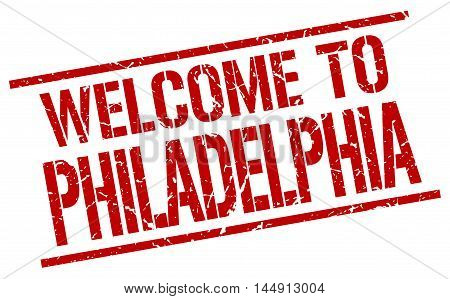 welcome to Philadelphia. stamp. grunge square sign