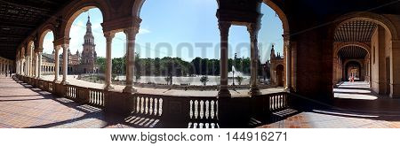 Seville Panoramic View. Spain. Europe