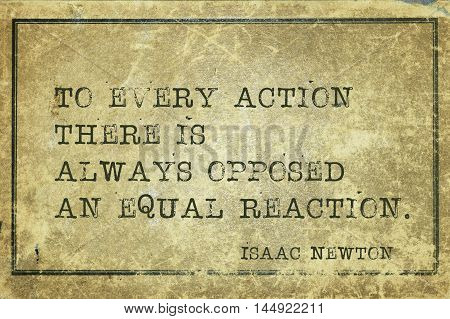 Opposed Reaction Newton