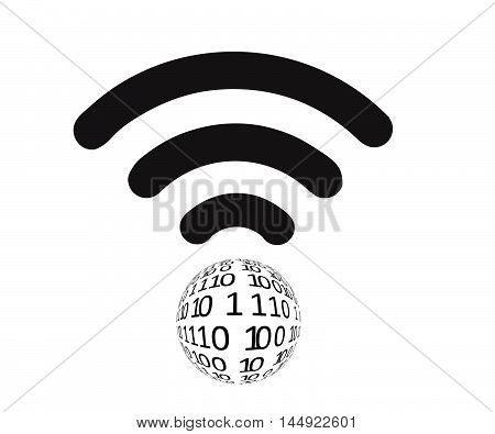 Wifi icon flat.Global Communication Icon. Wifi World Symbol. Earth symbol of worldwide internet. Wifi icon app.Wifi World Icon.