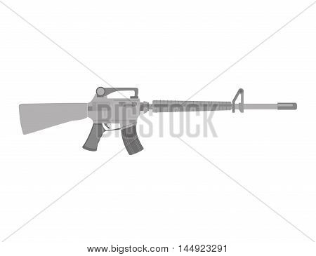 Submachine gun weapon semiautomatic handgun pistol gun firearm shot vector illustration poster