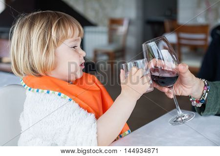 Baby Toasting Water Glass With Wine Cup