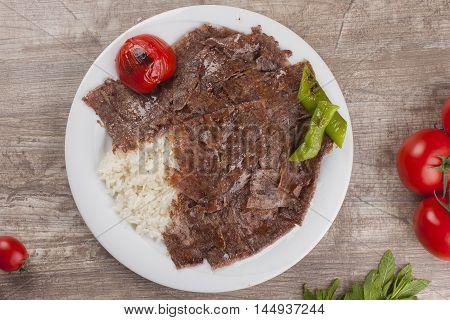 Turkish Doner Kebap meat grill yaprak döner