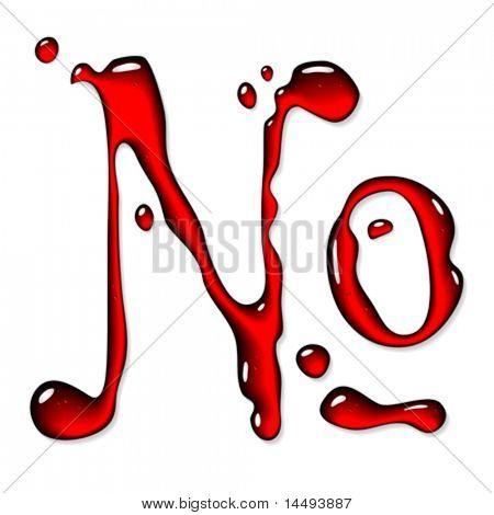 Red liquid numero sign