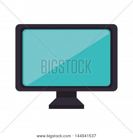 monitor pc computer screen device technology electronic vector illustration