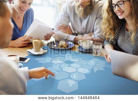 Internet Wifi Signal Communication Graphic Concept