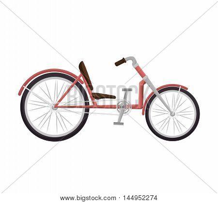 bicycle recumbent bike vehicle transport sport activity vector illustration