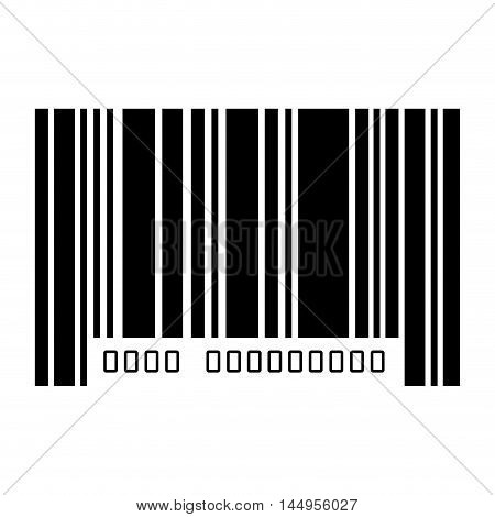barcode with serial number data information scanner vector illustration