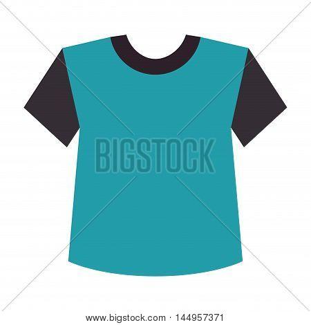 blue t shirt casual clothes man sport wear vector illustration