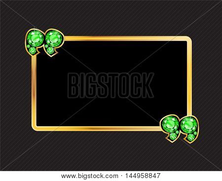 Peridot Stone Quotes on Gold Metal Speech Bubble over Pinstripe Background