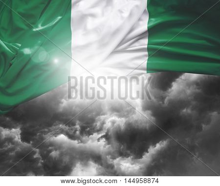 Nigeria flag on a bad day
