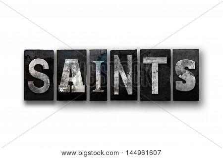 Saints Concept Isolated Letterpress Type