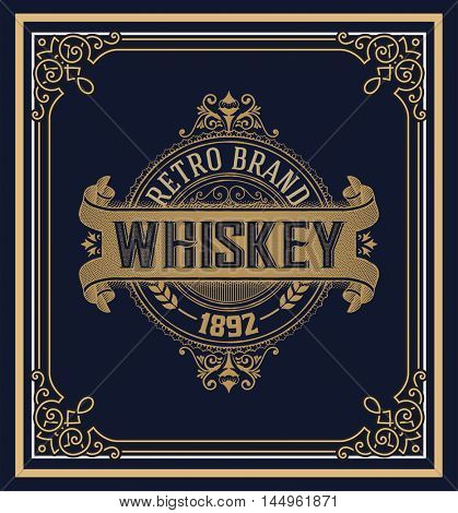 Old Whiskey Label