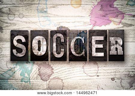 Soccer Concept Metal Letterpress Type