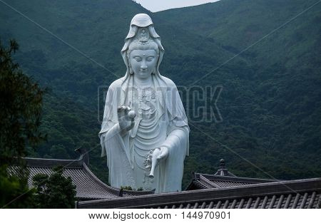 Heritage Guanyin statue in Hong Kong, Asia