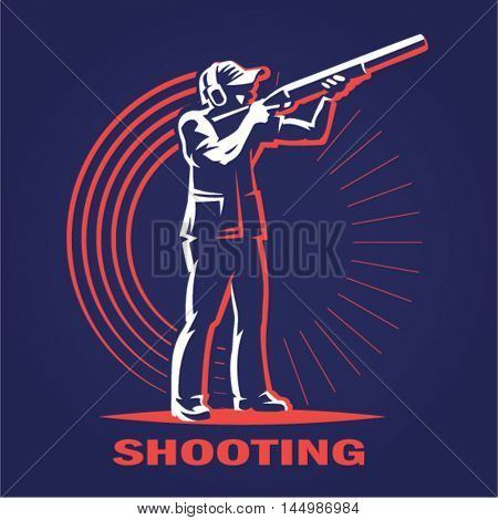 Shooting. logo illustration on a dark background