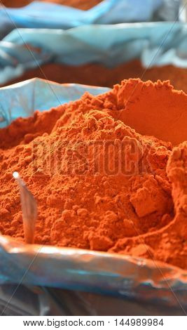 picture of a Red pepper spice for sale at a farmer market