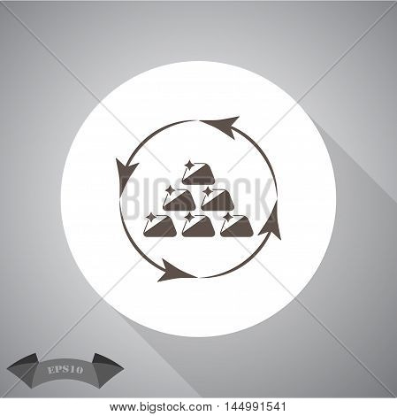 Gold bullions  Vector icon for web and mobile.