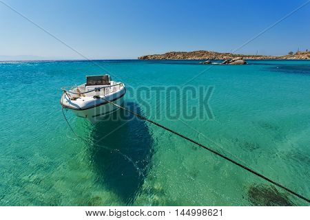 Clean Waters of Paranga Beach on the island of Mykonos, Cyclades, Greece