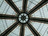 Dome interior in Zagreb city centre (in little passage called Octogon). Original photograph without any processing. poster