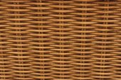 Brown close up of a basket weave background poster
