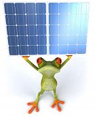 Frog and green energy poster