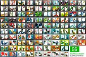 Mega collection of 96 vector annual report covers. Business geometric brochure templates poster