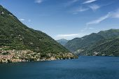 Lake of Como (Lario Lombardy Italy): Carate Urio seen from Faggeto Lario. Landscape at summer poster