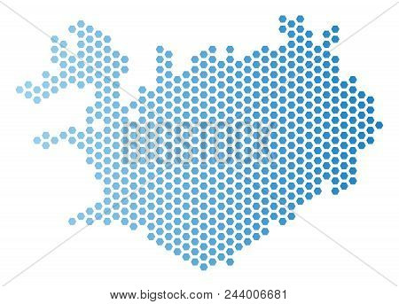 Hex Tile Iceland Map Vector & Photo (Free Trial) | Bigstock