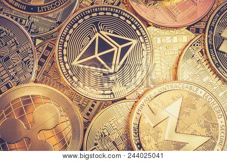 Vintage Cryptocurrency Coins