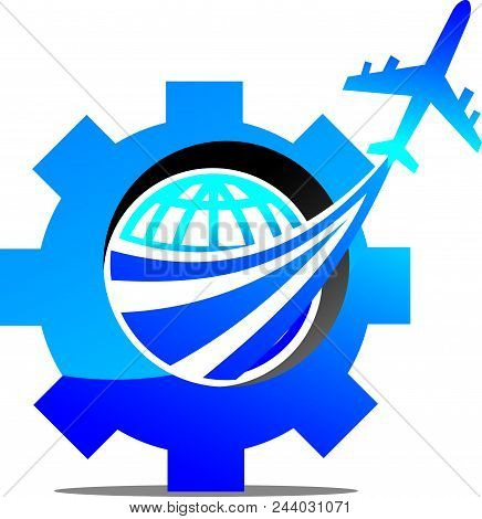 Aero Technology Logo Design Template Isolated Vector