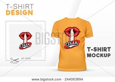 Shhh Silent Hand Sign T-shirt Design Template