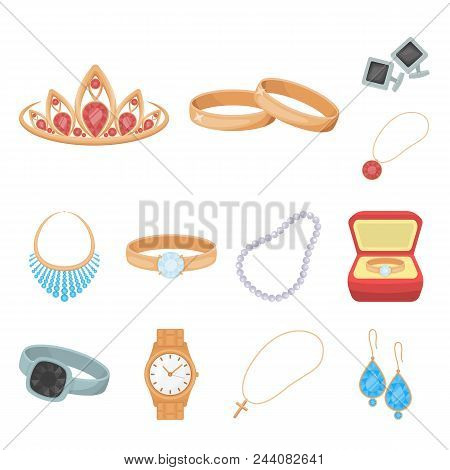 Jewelry And Accessories Cartoon Icons In Set Collection For Design.decoration Vector Symbol Stock  I