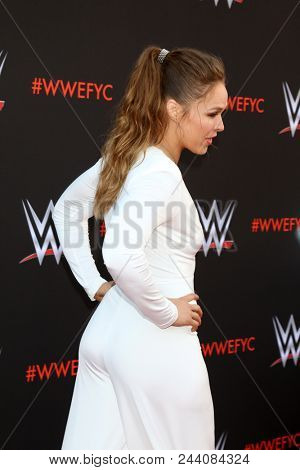 LOS ANGELES - JUN 6:  Rhonda Rousey at the WWE For Your Consideration Event at the TV Academy Saban Media Center on June 6, 2018 in North Hollywood, CA