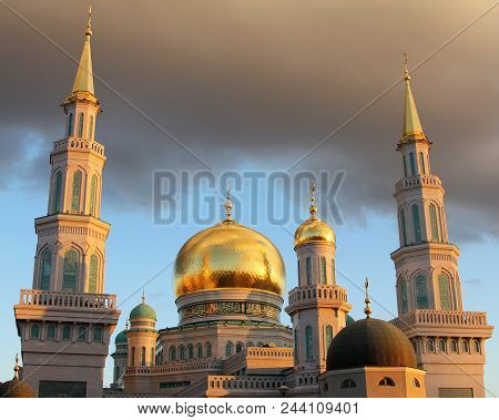 Big Cathedral Mosque in Moscow, Russia Federation poster