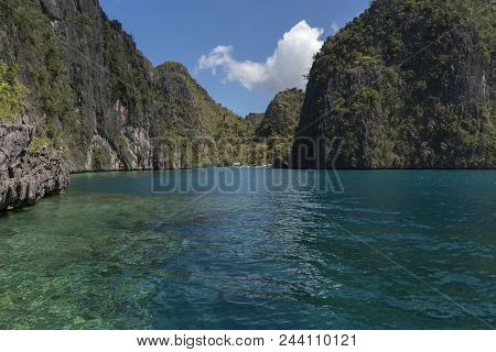 Coron Island. Coron Is The Third-largest Island In The Calamian Islands In Northern Palawan In The P