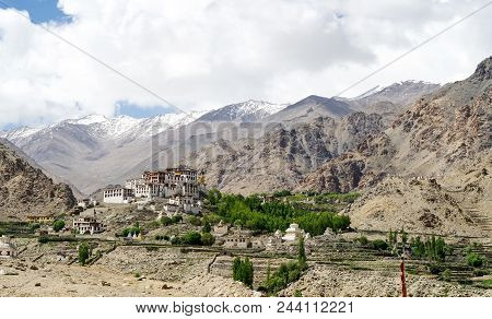 Likir Monastery Or Likir Gompa Is A Buddhist Monastery In Ladakh, Northern India. It Is Located Appr