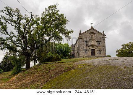 Povoa De Lanhoso, Portugal - May 31, 2018 : Chapels Of The Shrine Of Our Lady Of Pilar Braga, Portug