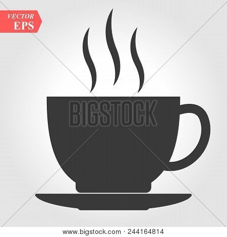 Cup Icon, Cup Icon Vector, In Trendy Flat Style Isolated On White Background. Cup Icon Image, Cup Ic