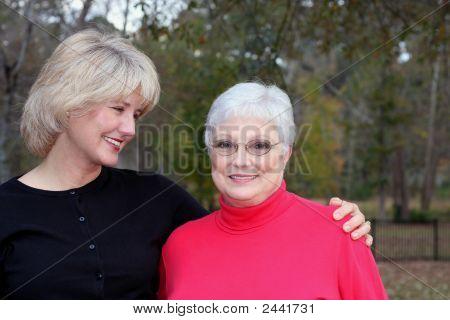 Deb And Nana Embrace