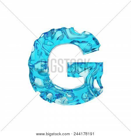 Alphabet letter g image photo free trial bigstock alphabet letter g uppercase liquid font made of fresh blue water 3d render isolated altavistaventures Images