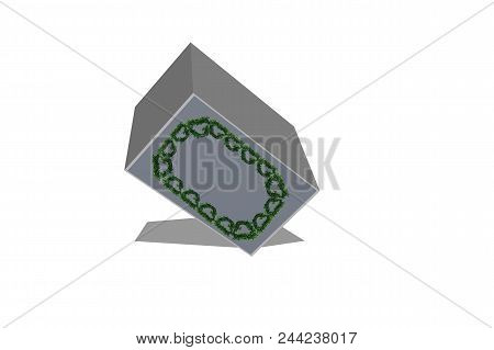 3d Render Of White Cuboid On A White Background
