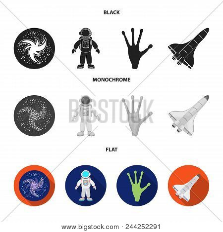 The Alien Hand, The Space Shuttle Ship Space Shuttle, The Astronaut In The Spacesuit, The Black Hole