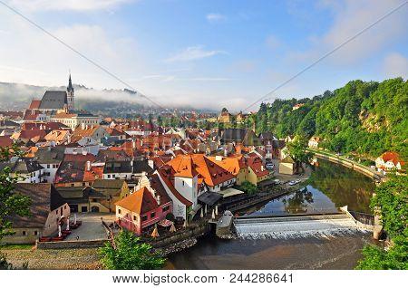 Panorama Of Cesky Krumlov Old Town
