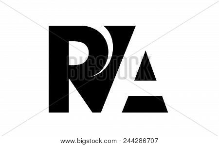 Letter R And A Negative Positive Join To Counterform Logo. Simple Illustration Of Letter R And A Neg