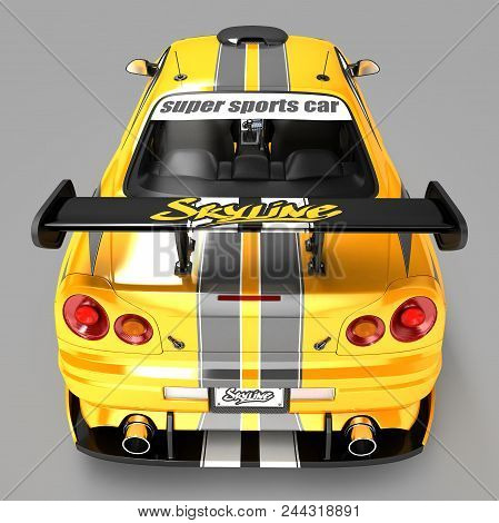 The Sports Car Is A Sedan Coupe In Exclusive Racing Performance And With An Aerodynamic Body Kit. It