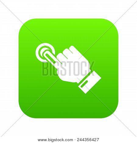 Cursor Hand Click Icon. Simple Illustration Of Cursor Hand Click Vector Icon For Web