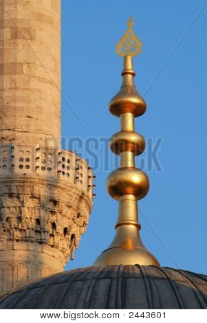 Dome And Minaret Of The Mosque
