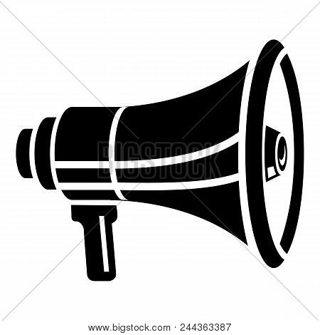 New Megaphone Icon. Simple Illustration Of New Megaphone Vector Icon For Web Design Isolated On Whit